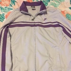 Grey/ purple Nike tracksuit jacket